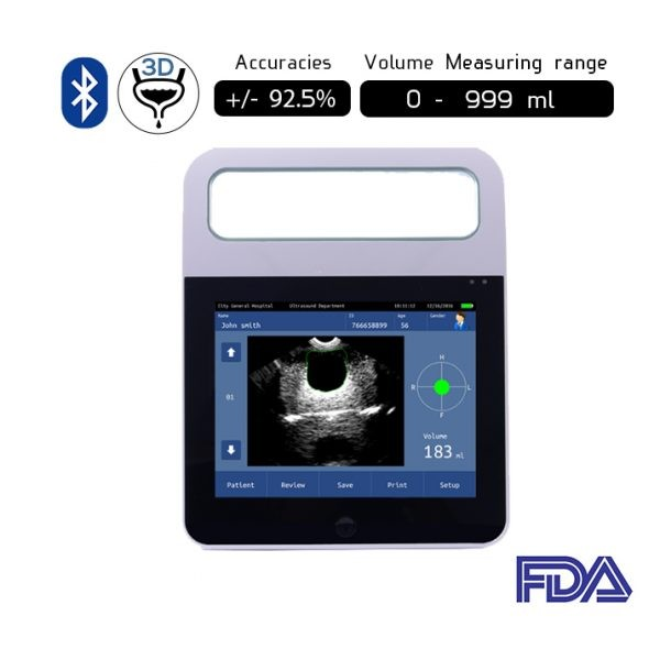 Bluetooth Wireless 3D Bladder Ultrasound Scanner B-3D