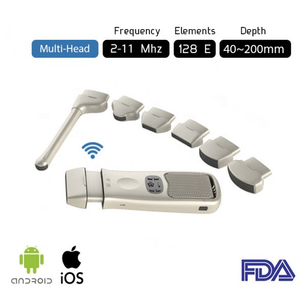 Multi head Ultrasound Scanner Wireless Pocket Ultrasound MH1