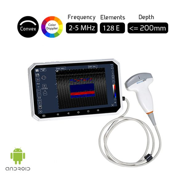 Color Doppler USB Convex Ultrasound Scanner USB-C3CD