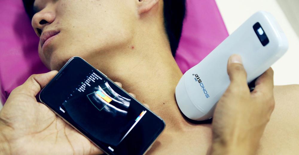 Trådløs 3 i 1 ultralydskanner trippelhodet - Mini-3in1